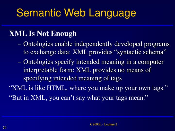 Semantic Web Language
