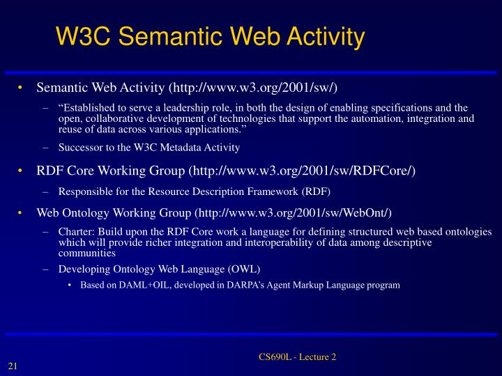 W3C Semantic Web Activity