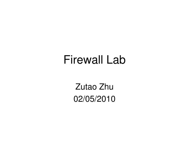 Firewall lab