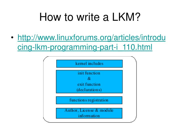 How to write a LKM?