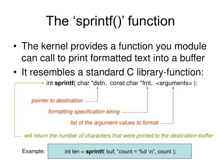 The 'sprintf()' function