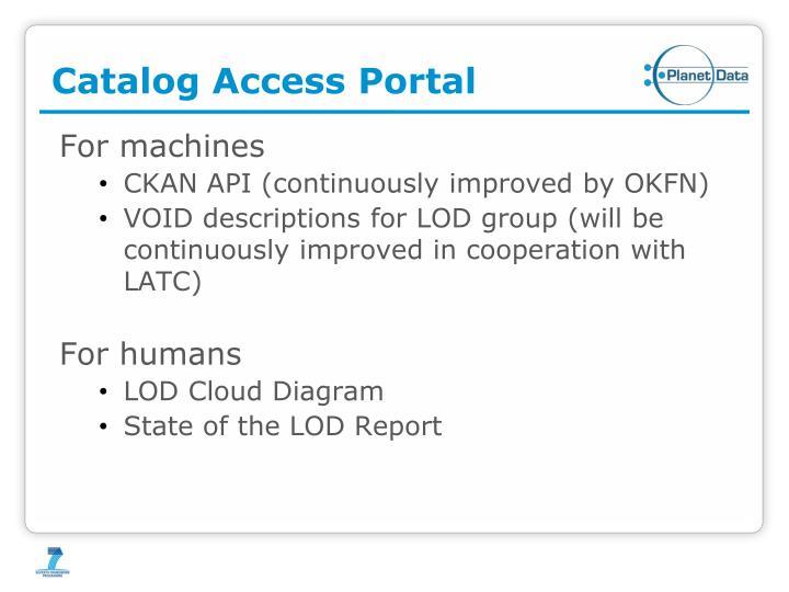 Catalog Access Portal
