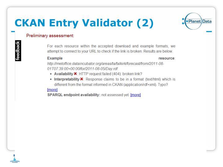 CKAN Entry Validator (2)