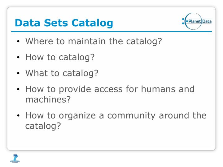 Data Sets Catalog