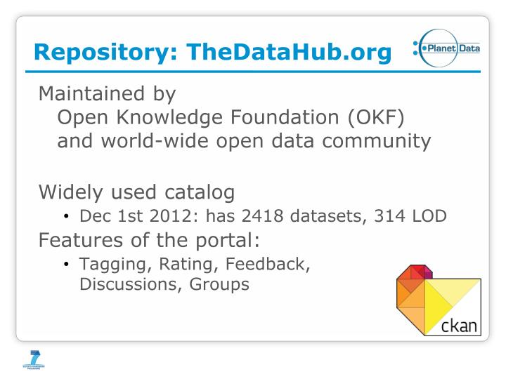 Repository: TheDataHub.org