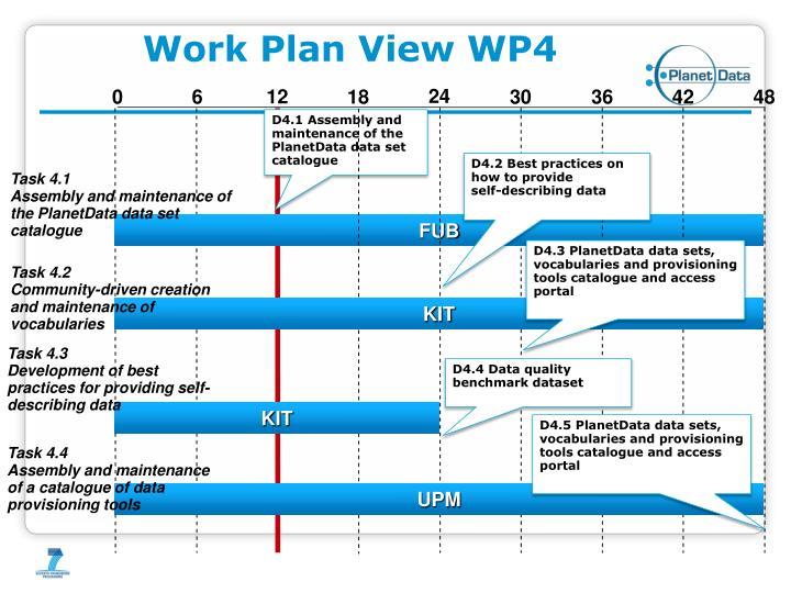 Work Plan View WP4