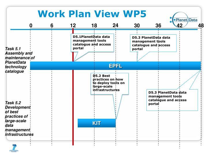 Work Plan View WP5