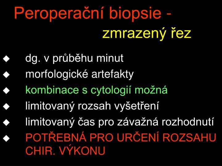 Peroperační biopsie -