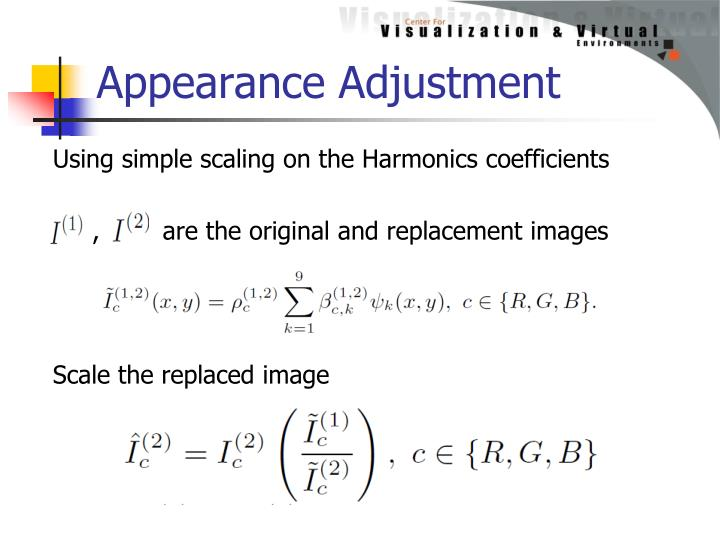 Appearance Adjustment