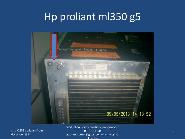 Hp proliant ml350 g5