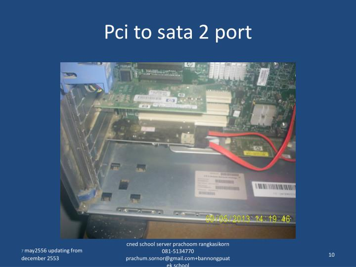 Pci to sata 2 port