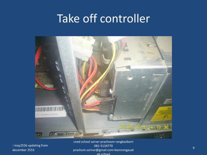 Take off controller
