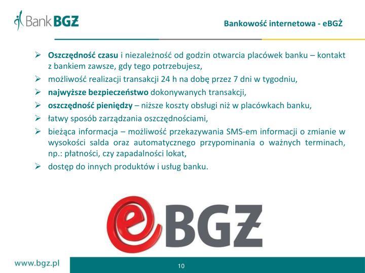 Bankowość internetowa - eBGŻ