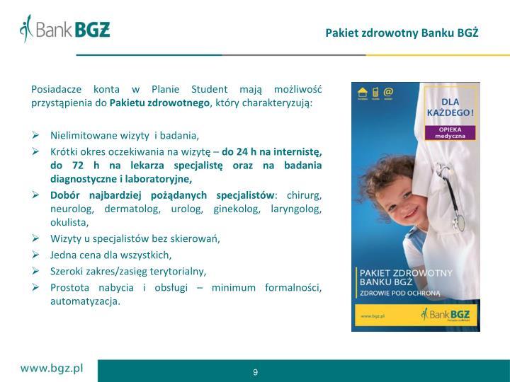 Pakiet zdrowotny Banku BGŻ