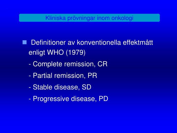 Kliniska prövningar inom onkologi