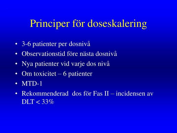 Principer för doseskalering