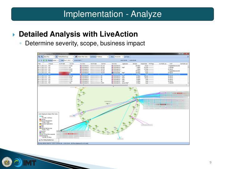 Implementation - Analyze