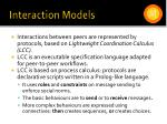 interaction models