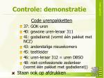controle demonstratie1