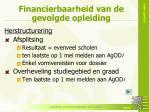 financierbaarheid van de gevolgde opleiding2