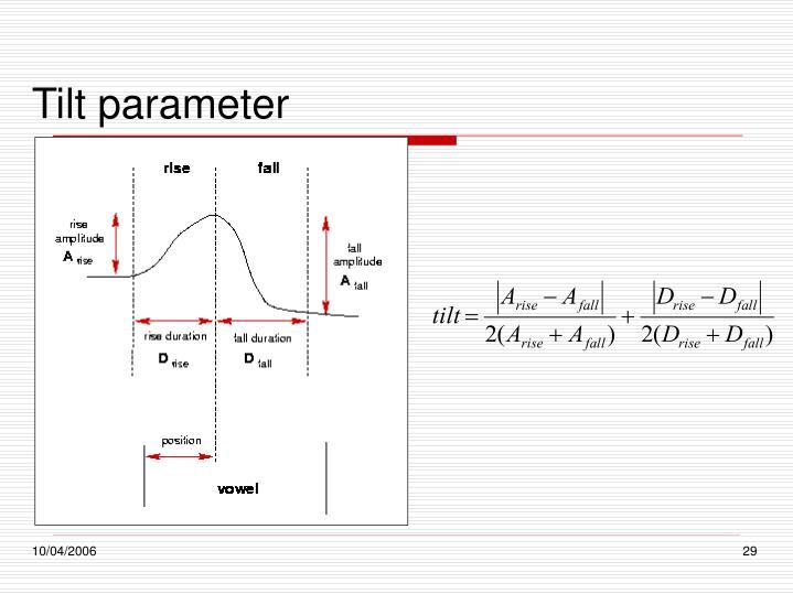 Tilt parameter