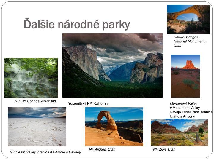 Ďalšie národné parky