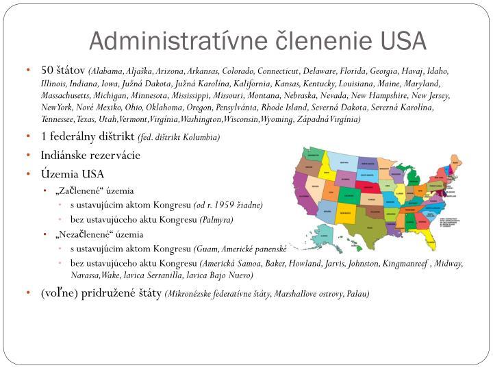 Administratívne členenie USA