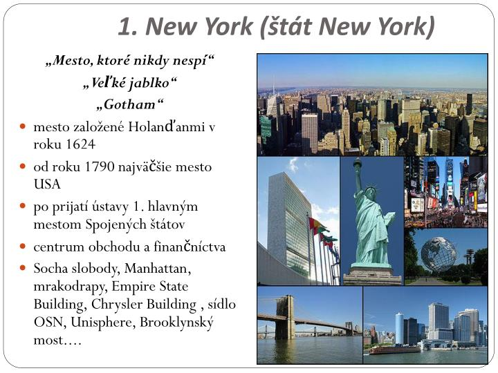 1. New York (štát New York)