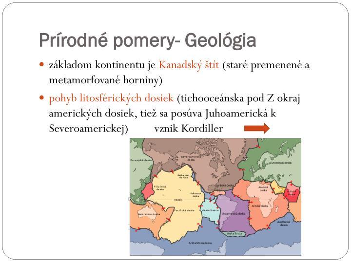 Prírodné pomery- Geológia