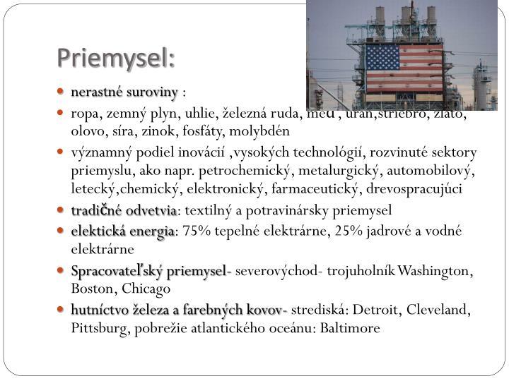 Priemysel: