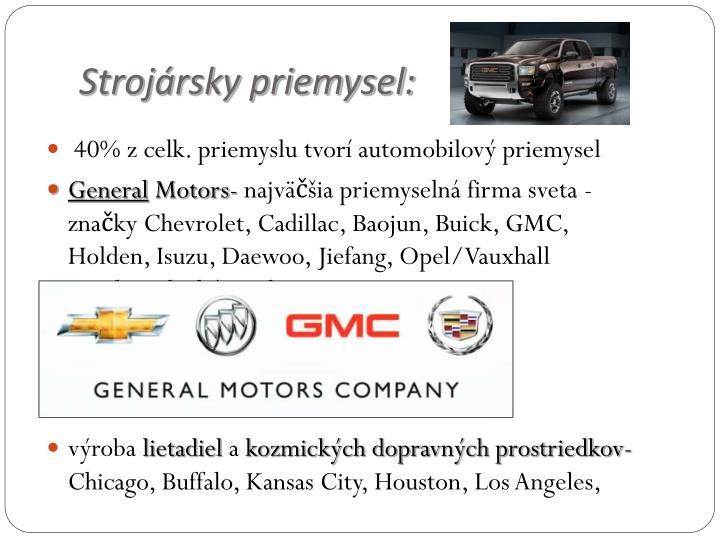 Strojársky priemysel: