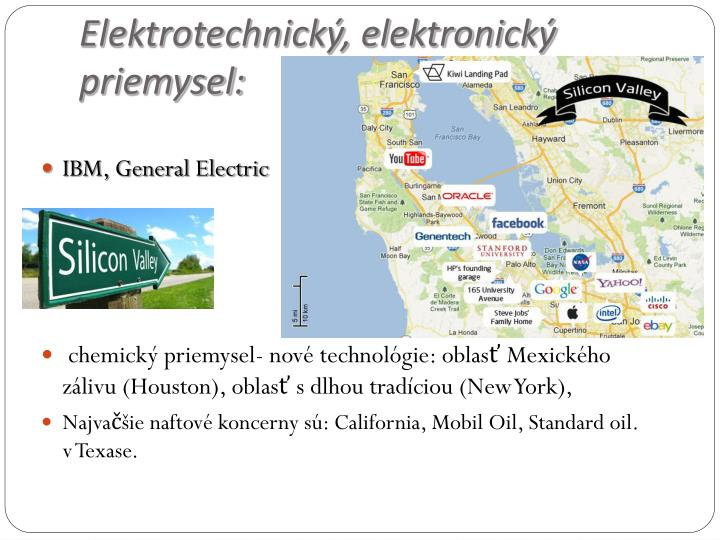 Elektrotechnický, elektronický priemysel:
