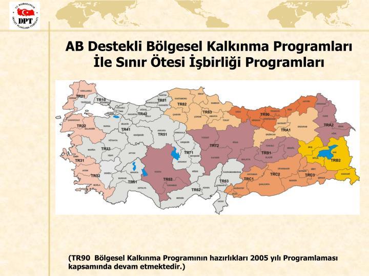 AB Destekli Bölgesel Kalkınma Programları İle Sınır Ötesi İşbirliği Programları