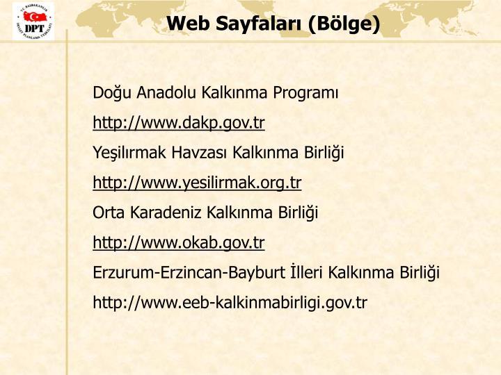Web Sayfaları (Bölge)