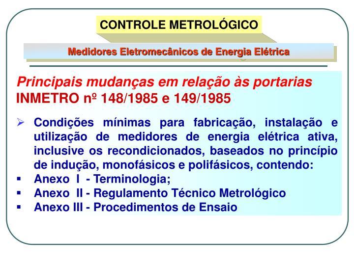 CONTROLE METROLÓGICO