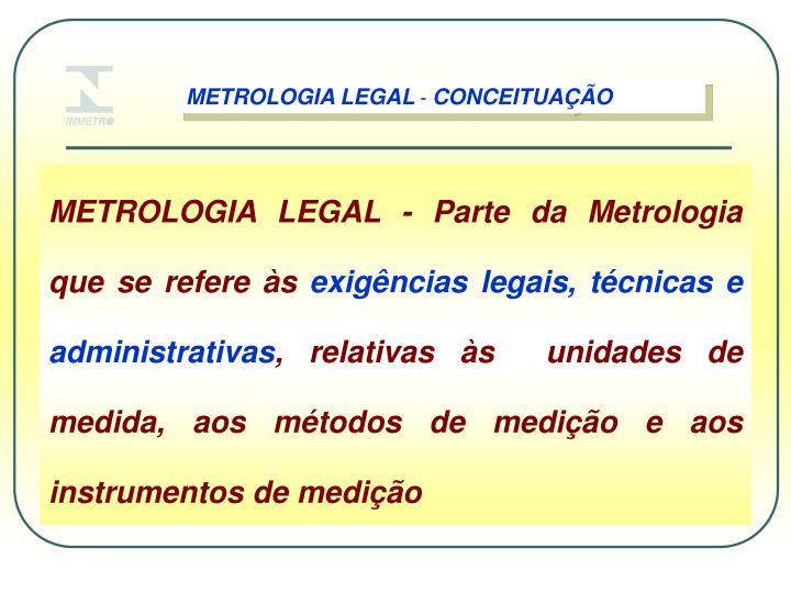 METROLOGIA LEGAL