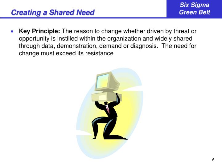 Creating a Shared Need