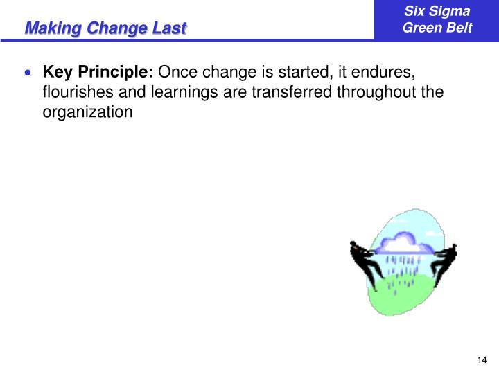 Making Change Last