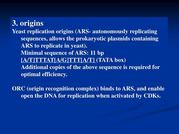 3. origins
