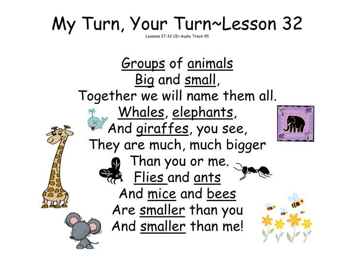 My Turn, Your Turn~Lesson 32