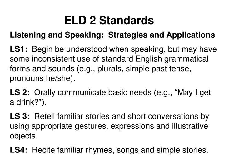 ELD 2 Standards