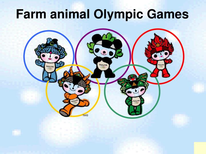 Farm animal Olympic Games