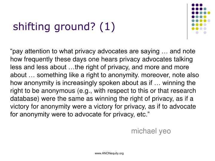 shifting ground?