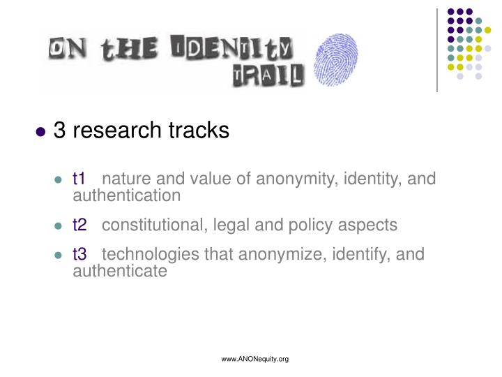 3 research tracks