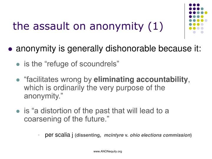 the assault on anonymity (1)
