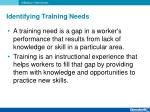 identifying training needs