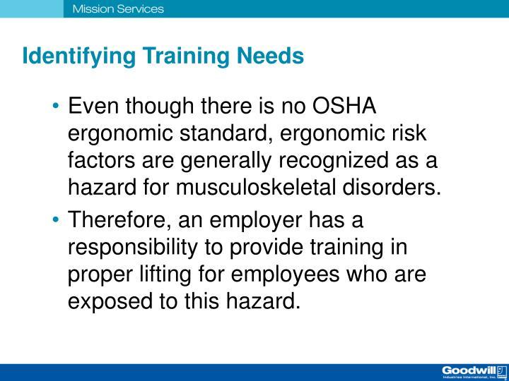 Identifying Training Needs