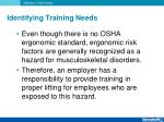 identifying training needs1