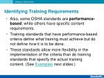identifying training requirements4