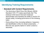 identifying training requirements6